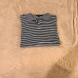 Men's Light Blue Stripped Polo XXL